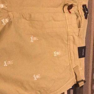 Men's Psycho Bunny shorts khaki size 36